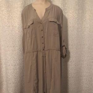 Lane Bryant Tan Shirt Dress, 22/24